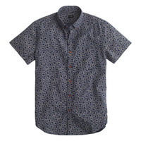 J.Crew Mens Secret Wash Short-Sleeve Shirt In Classic Navy Floral