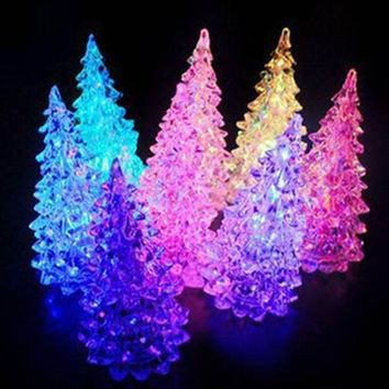Acrylic Christmas Tree LED Colorful Lights Home Holiday Decor Christmas Lamp For Holidays Accessories 88