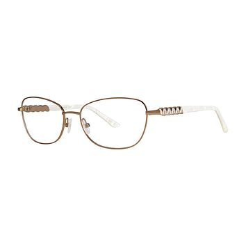 Dana Buchman - Hannie 52mm Gold Eyeglasses / Demo Lenses