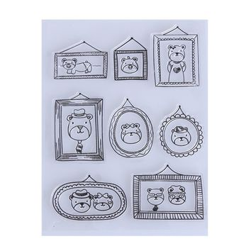 Transparent Clear Stamp DIY Silicone Seals Scrapbooking Photo Album Cards Decoration Supplies