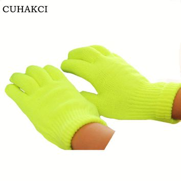 CUHAKCI Touchscreen Gloves Women Winter Gloves Girls Female Stretch Knit Gloves Mittens Warm Accessories Colorful Guantes