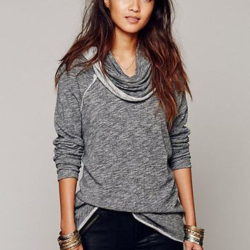 Free People Cocoon Pullover Charcoal