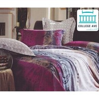 Riley Twin XL Comforter Set - College Ave Designer Series Dorm Bedding for Girls Extra Long Twin Comforter