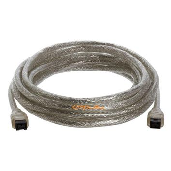 Cmple 9 PIN/ 9PIN BETA FireWire 800 - FireWire 800 Cable -15FT, CLEAR