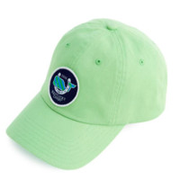 Vineyard Vines Whale Patch Gingham Baseball Hat- Wasabi