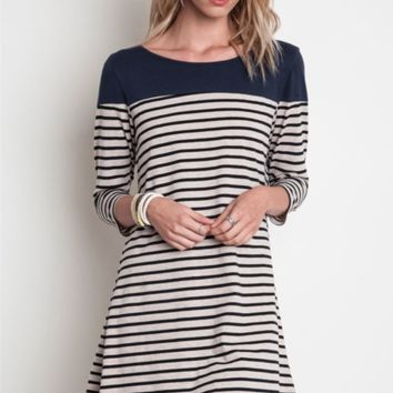 Stripe Tease Dress