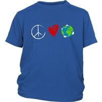 Peace Love Earth - Kid's Tee