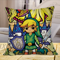 Legend of Zelda Triforce  on Square Pillow Cover