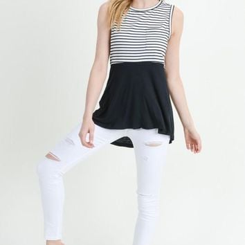 It's A Sheer Thing Striped Top