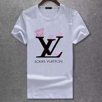 Trendsetter Louis Vuitton  Women Man Fashion Simple Shirt Top Tee