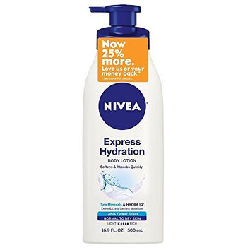 Nivea Express Hydration Body Lotion for Normal to Dry Skin 16.9 Ounce (Pack of 3)