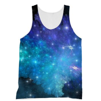 Blue and Purple Space Explosion American Apparel Sublimation Vest