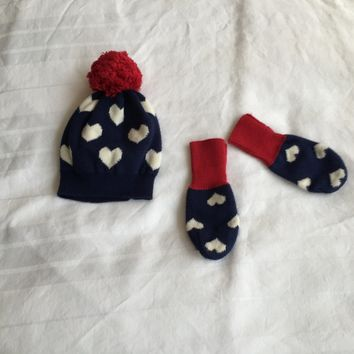 Baby Gap Gloves And Hat Set
