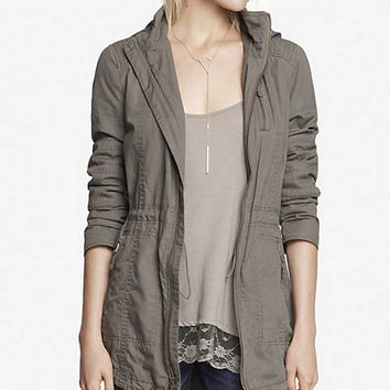 COTTON HOODED ANORAK JACKET from EXPRESS