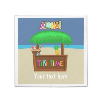 Kids Hawaiian Luau Party Personalized Paper Napkin