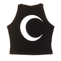 Eastcraeft Original Crescent Moon Crop Top
