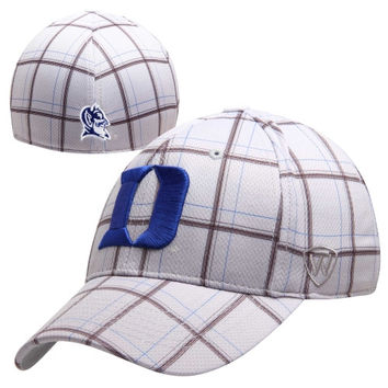 Top of the World Duke Blue Devils Fuse One-Fit Flex Hat - Gray