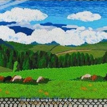 ESBU3C Handmade art tapestry tapestry wall mural classic prairie living room decoration paintings special offer