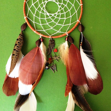 Dream Catcher - Bohemian - Owl - Modern - Dragonfly
