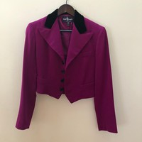 RALPH LAUREN - Purple Label - Cropped Blazer in Magenta