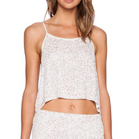 MLV Clyde Sequin Top in White