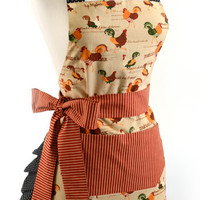Women's Original Rooster Flirty Apron