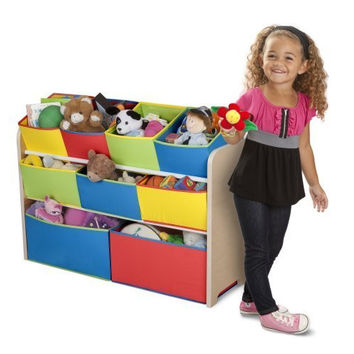 Multi-color Storage Bins Organizer