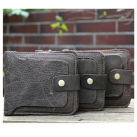 Men's wallet, high-quality products. Minimalist style Handmade retro YG080