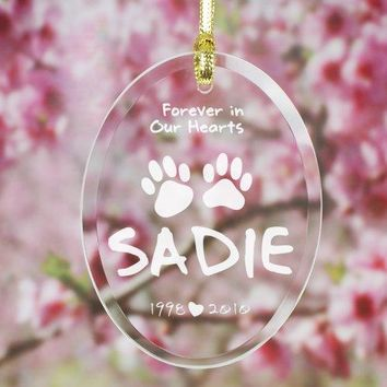 Engraved Pet Memorial Suncatcher