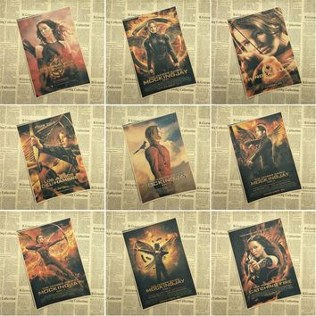 The Hunger Games core Movie Vintage Kraft Paper Poster Bar Cafe Living Room Dining room Wall Decorative Paintings
