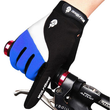 Winter Bike Bicycle Gloves Full Finger Windproof Anti-slip Guantes Ciclismo Breathable Anti-Shock Men Women Cycling Gloves