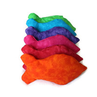 Rainbow Goldfish Bean Bags Shaped Bright Colors Orange Red Pink Purple Blue Green Child's Toy Homeschool (set of 6) - US Shipping Included
