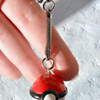 Pokeball Charm Keychain, Gotta Catch Em All :D