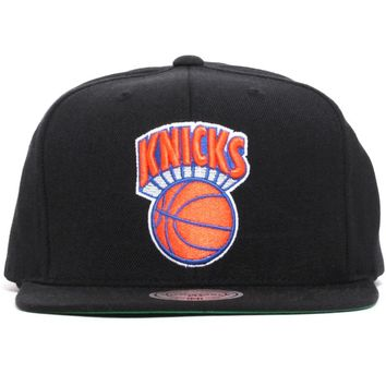 New York Knicks Wool Solid Snapback Hat Black