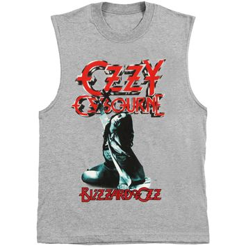 Ozzy Osbourne Men's  Blizzard Mens Tank Heather