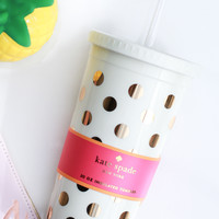 Gold Dots Insulated Tumbler