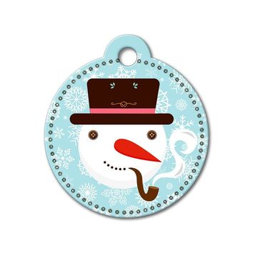 Snowman Holiday Dog Tag