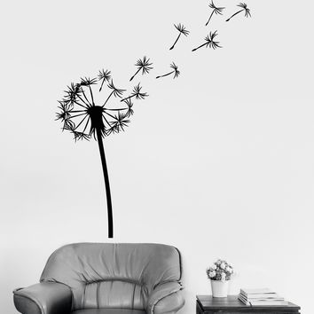Vinyl Wall Decal Dandelion Flower Room Decoration Bedroom Art Stickers Unique Gift (ig3279)