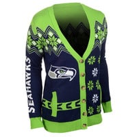 Seattle Seahawks Women's Official NFL Cardigan Sweater