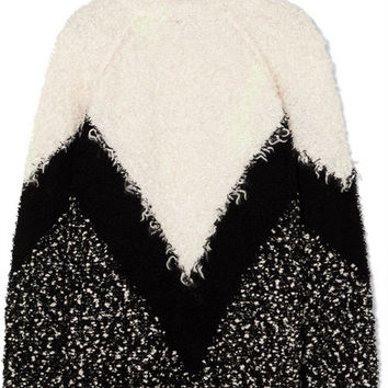 Givenchy - Oversized mohair-blend bouclé turtleneck sweater