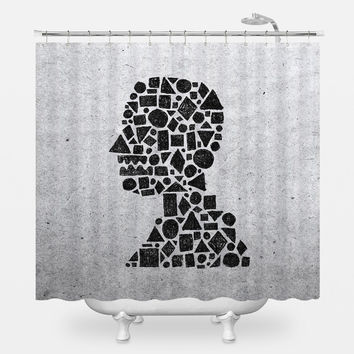 Untitled Silhouette in Reverse Shower Curtain