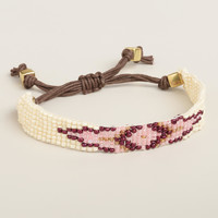 Purple Diamond Beaded Friendship Bracelet - World Market