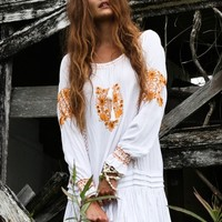 Fleetwood Kaftan - gold embroidery - Arnhem Clothing
