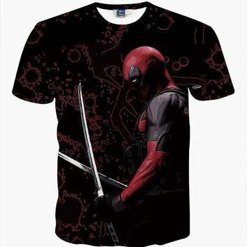 Deadpool The Blademaster 3D T-Shirt