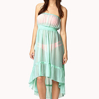 High-Low Chiffon Cover Up Dress