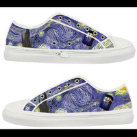 tardis dr who,Custom Canvas Shoes for Women Model 101(New)