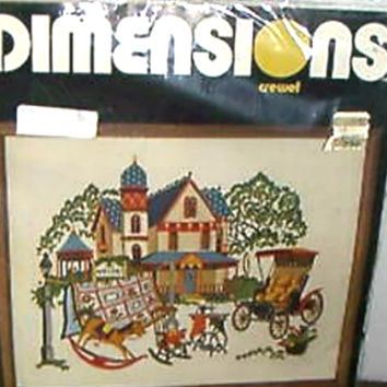 Victorian Antiques Crewel Embroidery Vintage Dimensions Kit # 1205   Eileen Vaughn