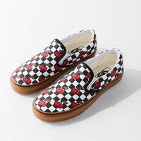 Vans Cherry Checkerboard Classic Slip-On Sneaker | Urban Outfitters