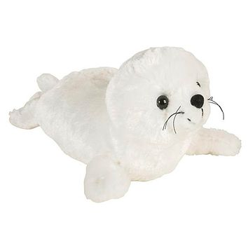 12 Inch White Harp Seal Pup Stuffed Animal Plush Floppy Ocean Species Collection