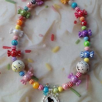 Wreck it Ralph Vanellope Von Schweetz JawBreaker Candy Necklace